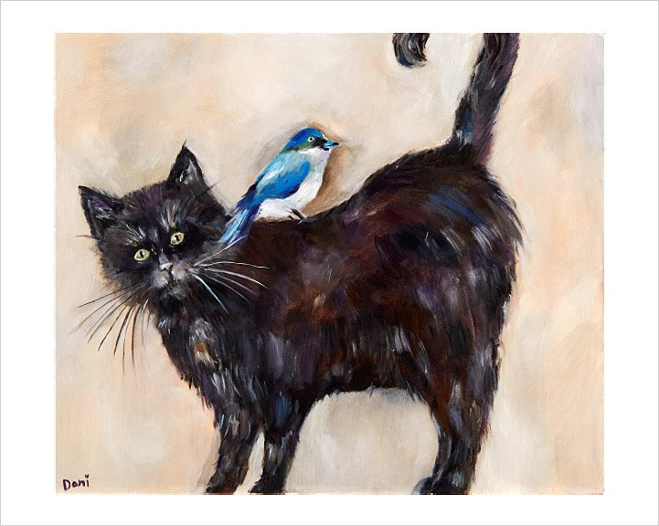 Cat Birdie 'Limited Edition Print'