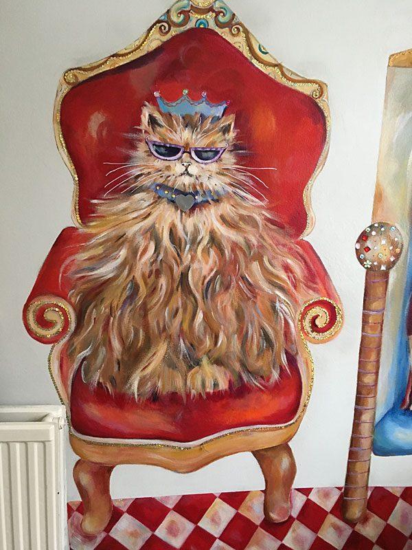 Cat & Dog Art Mural