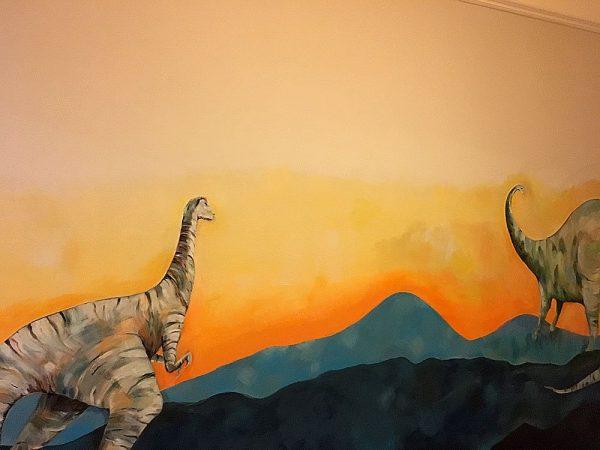 Dinosaur Art Wall Mural