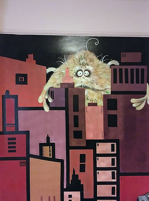 Monster Art Wall Mural