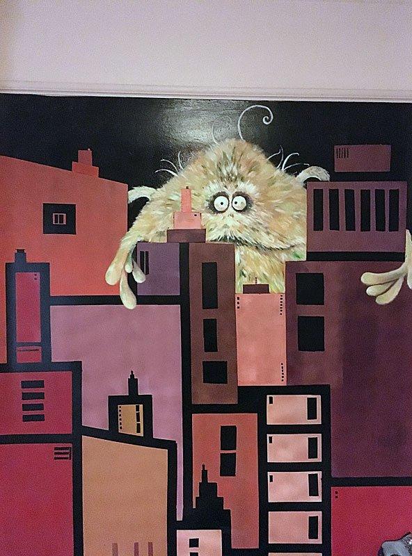 Monster Art Wall Mural